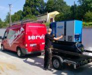 realizace kontejnerové kompresorové stanice