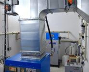 úprava vzduchu v kontejneru